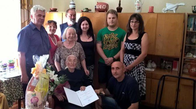 100. születésnapján köszöntöttük a település legidősebb emberét