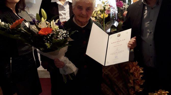 90. születésnapján köszöntöttük Tanács Ferencné Pirike nénit